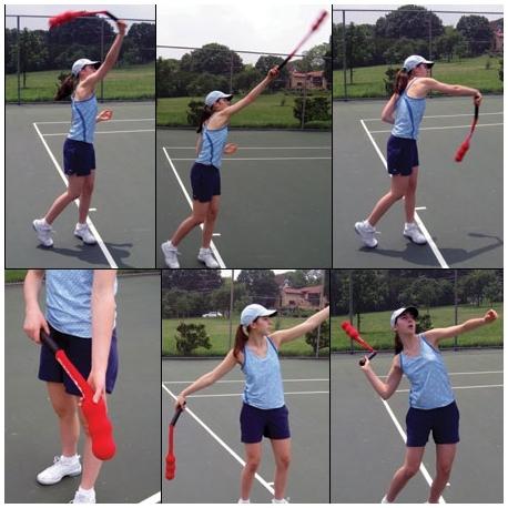 Тренажер для тренировки подачи в большом теннисе Serving Sock